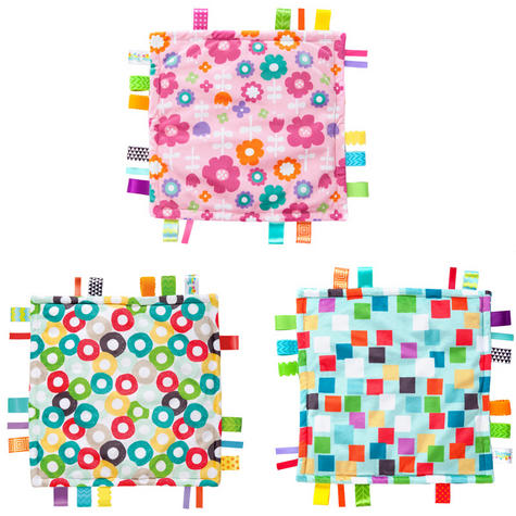 Bright Starts Little Taggies Comfort Blanket (ASSORTMENT) | With Soft Teether Tags Thumbnail 2