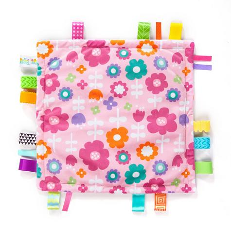 Bright Starts Little Taggies Comfort Blanket (ASSORTMENT) | With Soft Teether Tags Thumbnail 3