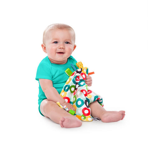Bright Starts Little Taggies Comfort Blanket (ASSORTMENT) | With Soft Teether Tags Thumbnail 8