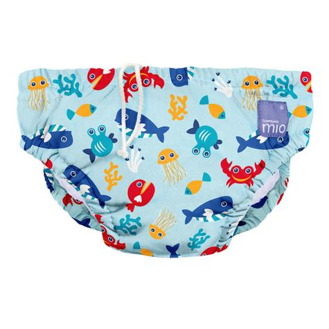 Bambino Mio Baby Reusable Swim Nappy Sea Blue|Water Resist Soft Layer|1-2yrs|New Thumbnail 2