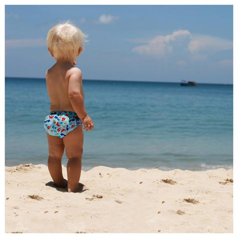 Bambino Mio Baby Reusable Swim Nappy Sea Blue|Water Resist Soft Layer|1-2yrs|New Thumbnail 3