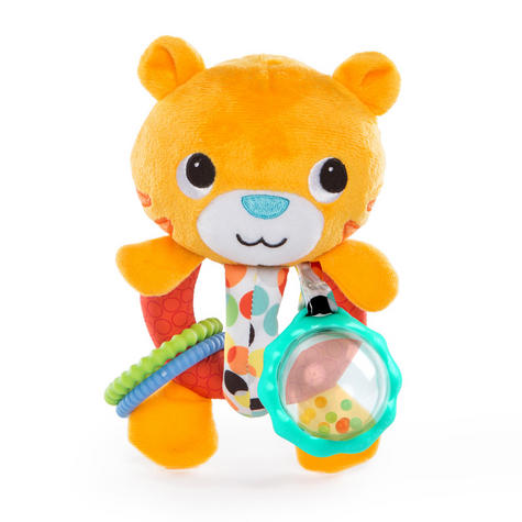 Bright Starts Grab Me Friends | Baby/ Toddler/ Kid's Soft Plush Toy+Teething Ring | +3 Months Thumbnail 5