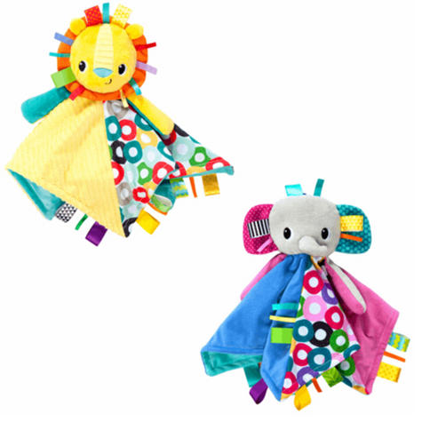 Bright Starts Taggies Cuddles N Tags Blankie-Lion | Soft Fabric & Machine-Washable Thumbnail 2