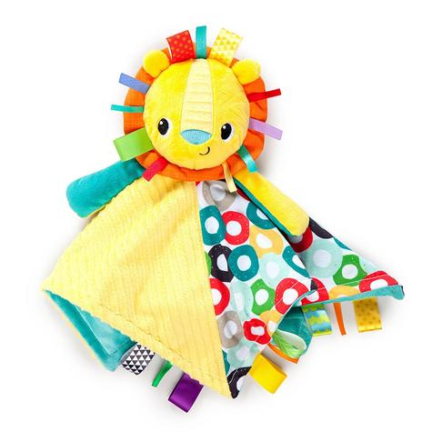 Bright Starts Taggies Cuddles N Tags Blankie-Lion | Soft Fabric & Machine-Washable Thumbnail 3