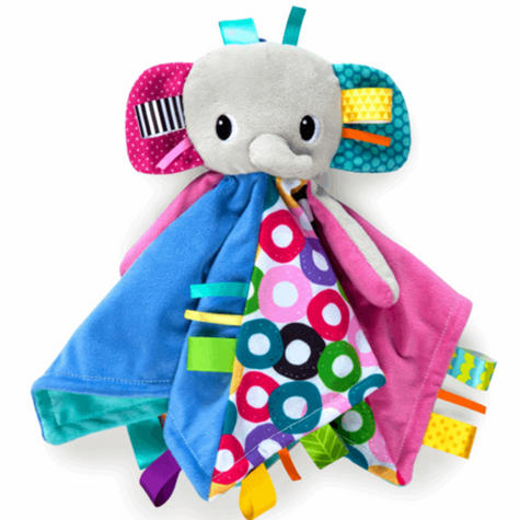 Bright Starts Taggies Cuddles N Tags Blankie-Lion | Soft Fabric & Machine-Washable Thumbnail 4