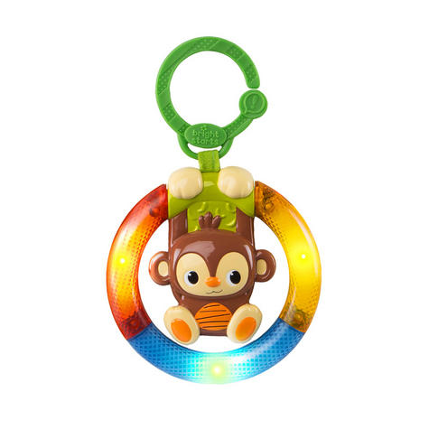 Bright Starts Shake & Glow Kids Monkey Toy With Rattle | Clip On Carrier+Stroller Thumbnail 2