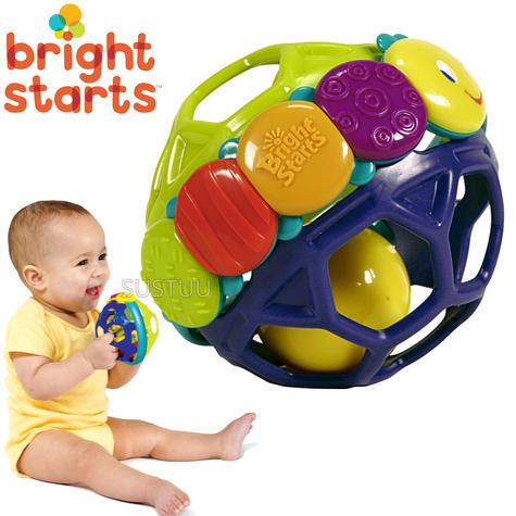 Bright Starts Flexi Ball|Baby/ Kid/ Toddler's Playtime Funny Sound Soft Toy|0m+| Thumbnail 1