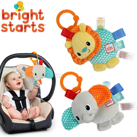Bright Starts Taggies Friends For Me | Clip On Carriers,Strollers | Kids Soft Toys Thumbnail 1