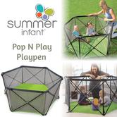 Summer Infant Pop N Play Playpen Original|Kid's Indoor & Outdoor Safe Play Area