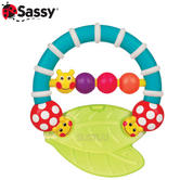 Sassy Caterpillar Teether | Baby/ Kid/ Toddler's Teething Toy | Easy To Grasp & Chew | +3 Months