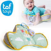 Taf Toys Soft Tummy Time Developmental Pillow For Baby | Includes Teether & Rattle