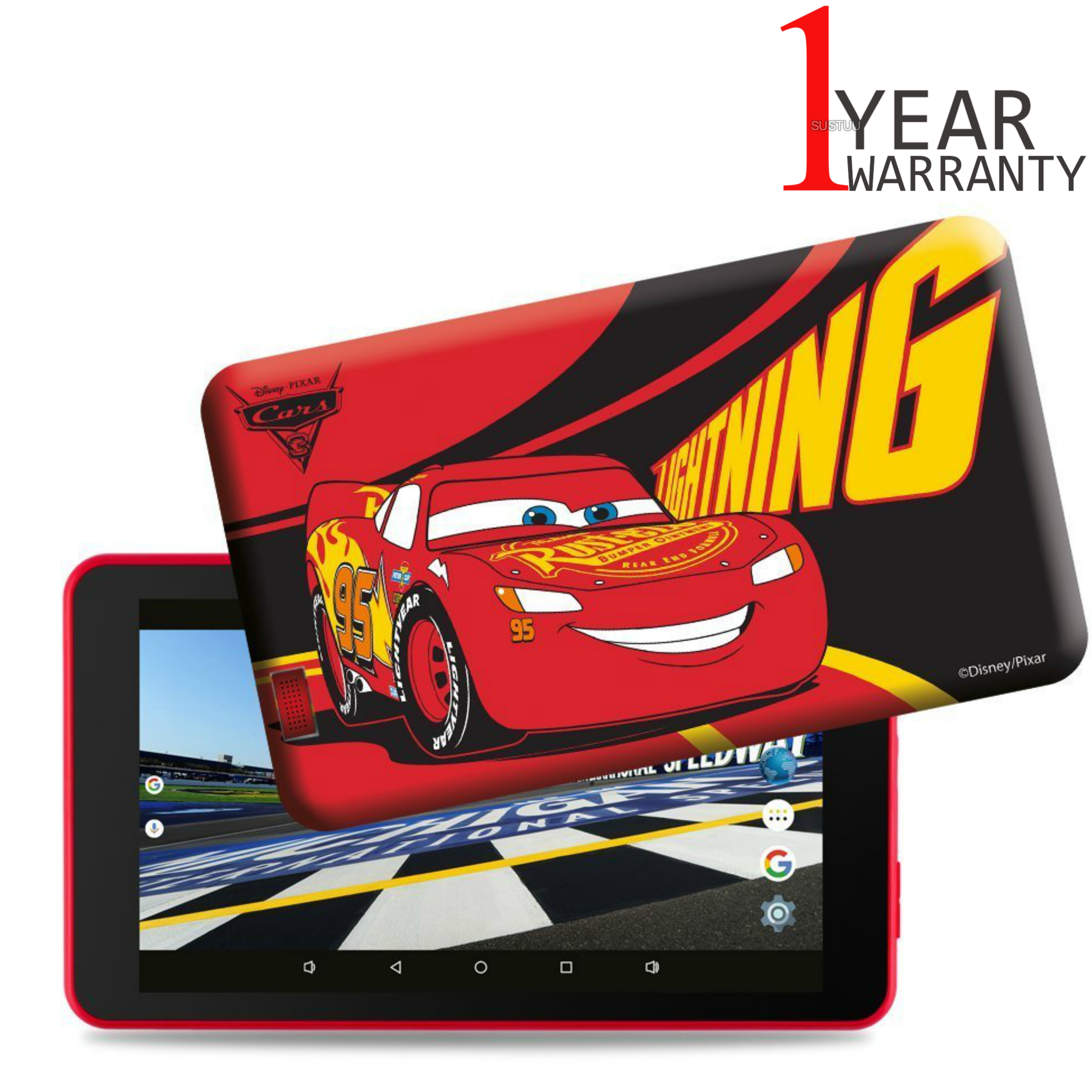 Kid's 7 inch Cars Themed Tablet with Pre-Loaded Games + Case | 1GB RAM |  Micro USB