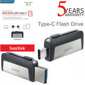 SanDisk 64GB Ultra Dual Type-C USB 3.0 Flash Drive/ Memory Stick | For PC & Smartphone/ Tablets