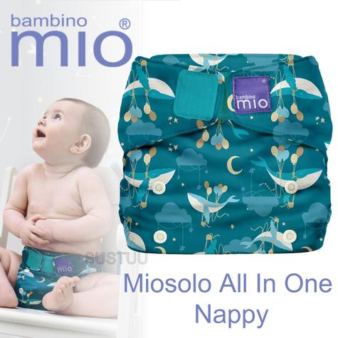 Bambino Mio Miosolo All In One Nappy|Polyester|For Baby No Moisturiser|Sail Away Thumbnail 1