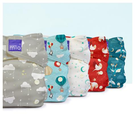 Bambino Mio Miosolo All In One Nappy|Polyester|For Baby No Moisturiser|Sweet Dreams Thumbnail 4