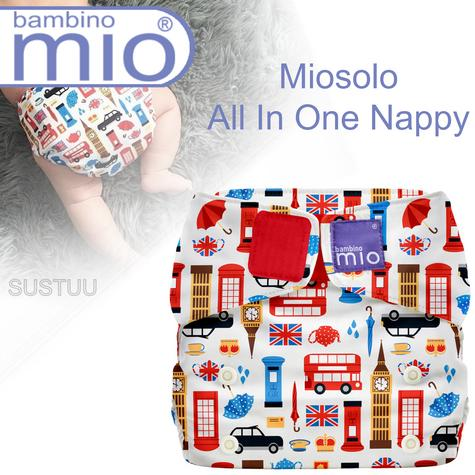 Bambino Mio Miosolo All In One Nappy|Polyester|For Baby No Moisturiser|Great Britain Thumbnail 1