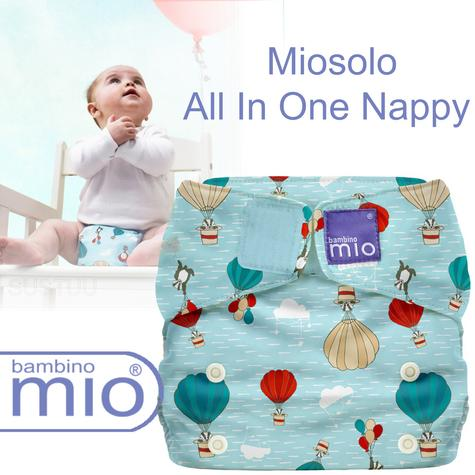 Bambino Mio Miosolo All In One Nappy|Polyester|For Baby No Moisturiser|Sky Ride Thumbnail 1