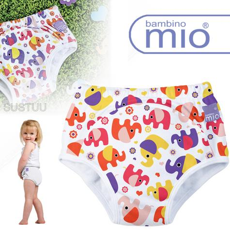 New Bambino Mio Potty Training Pants Pink Elephant|Wetess Feel|80% Cotton|3+yrs Thumbnail 1