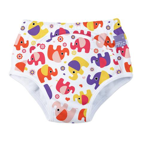 New Bambino Mio Potty Training Pants Pink Elephant|Wetess Feel|80% Cotton|3+yrs Thumbnail 2