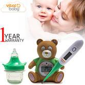 Vital Baby Health & Safety Kit | Kids Digital Room+Bath Thermometer+Nasal Aspirator