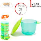 Vital Baby Prep and Go Baby/ Kid's Food Pots/ Containers | Microwave & Dishwasher Safe | +6 Months