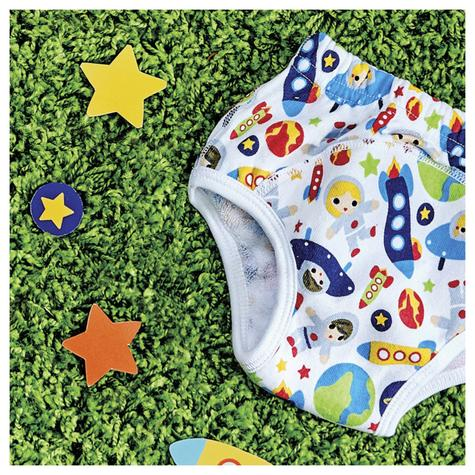 New Bambino Mio Potty Training Pants Outer Space|Wetless Feel|80% Cotton|3+yrs Thumbnail 4