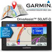 "Garmin DriveAssist 50LMT-D 5"" GPS Sat Nav | Free Lifetime UK-Ireland Maps+Traffic"