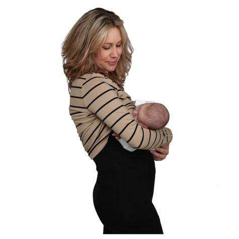 Breastvest Nursing Top Black|Maternity Clothing for Mum|Pregnancy Use|X Small Thumbnail 3