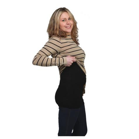 Breastvest Nursing Top Black|Maternity Clothing for Mum|Pregnancy Use|X Small Thumbnail 4