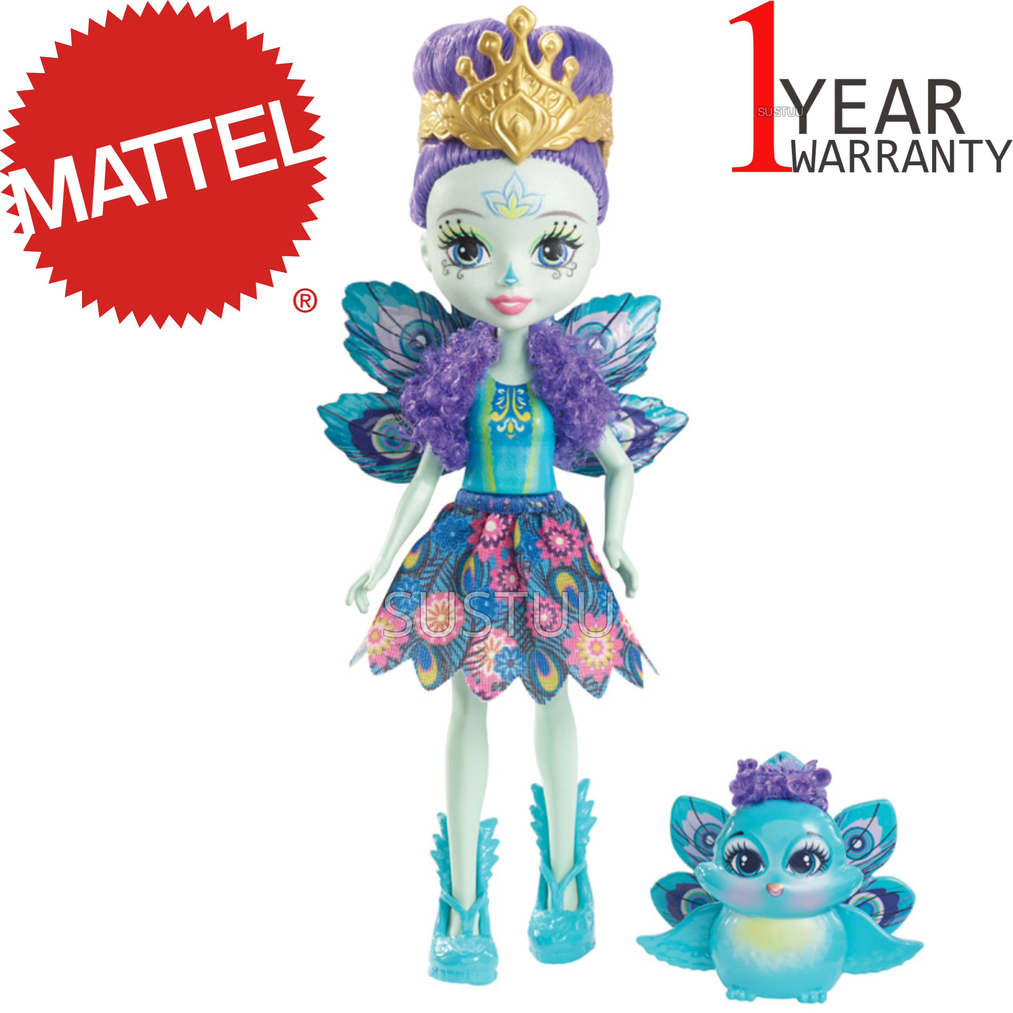 Enchantimals Peacock Doll | Baby/ Kid's Playtime/ Fun Toy | Best Gift To Birthday Girl | +3 Year