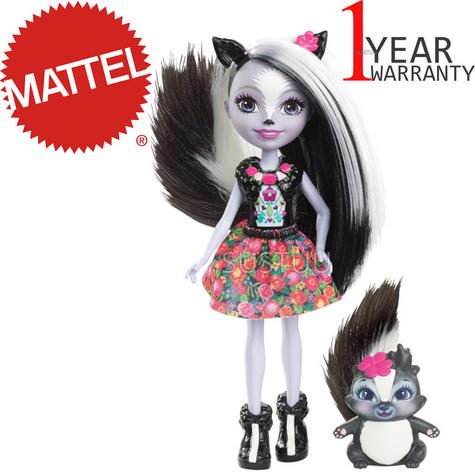 Enchantimals Skunk Doll | Baby/ Kid's Playtime/ Fun Toy | Best Gift To Birthday Girl | +3 Year Thumbnail 1