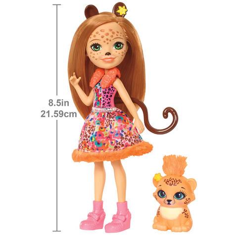 Enchantimals Cherish Cheetah Doll | Baby's Favourite Play Toy | Best Gift To Child | +3 Year Thumbnail 3