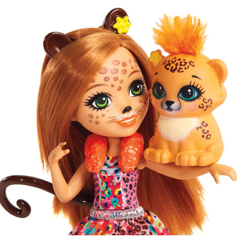 Enchantimals Cherish Cheetah Doll | Baby's Favourite Play Toy | Best Gift To Child | +3 Year Thumbnail 5