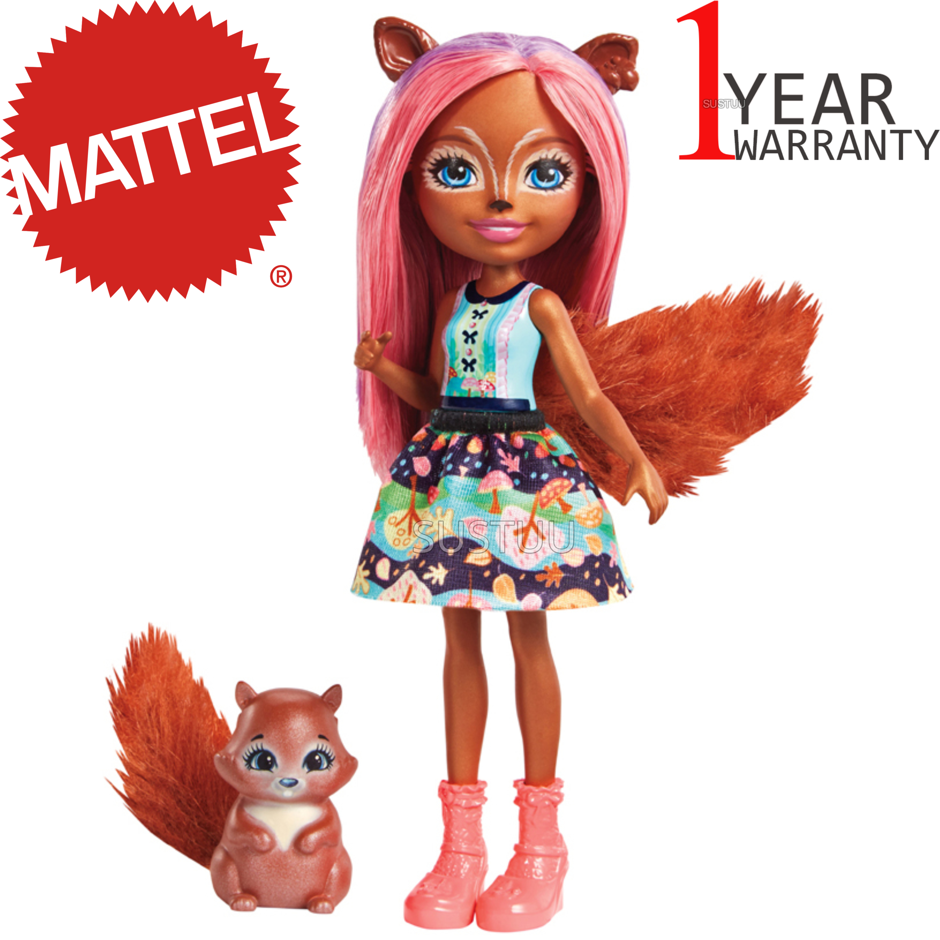 Enchantimals Sancha Squirrel Doll | Baby's Favourite Play Toy | Best Gift To Child | +3 Year