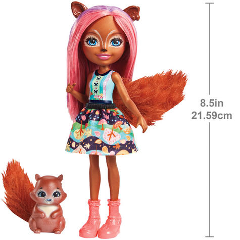 Enchantimals Sancha Squirrel Doll | Baby's Favourite Play Toy | Best Gift To Child | +3 Year Thumbnail 3