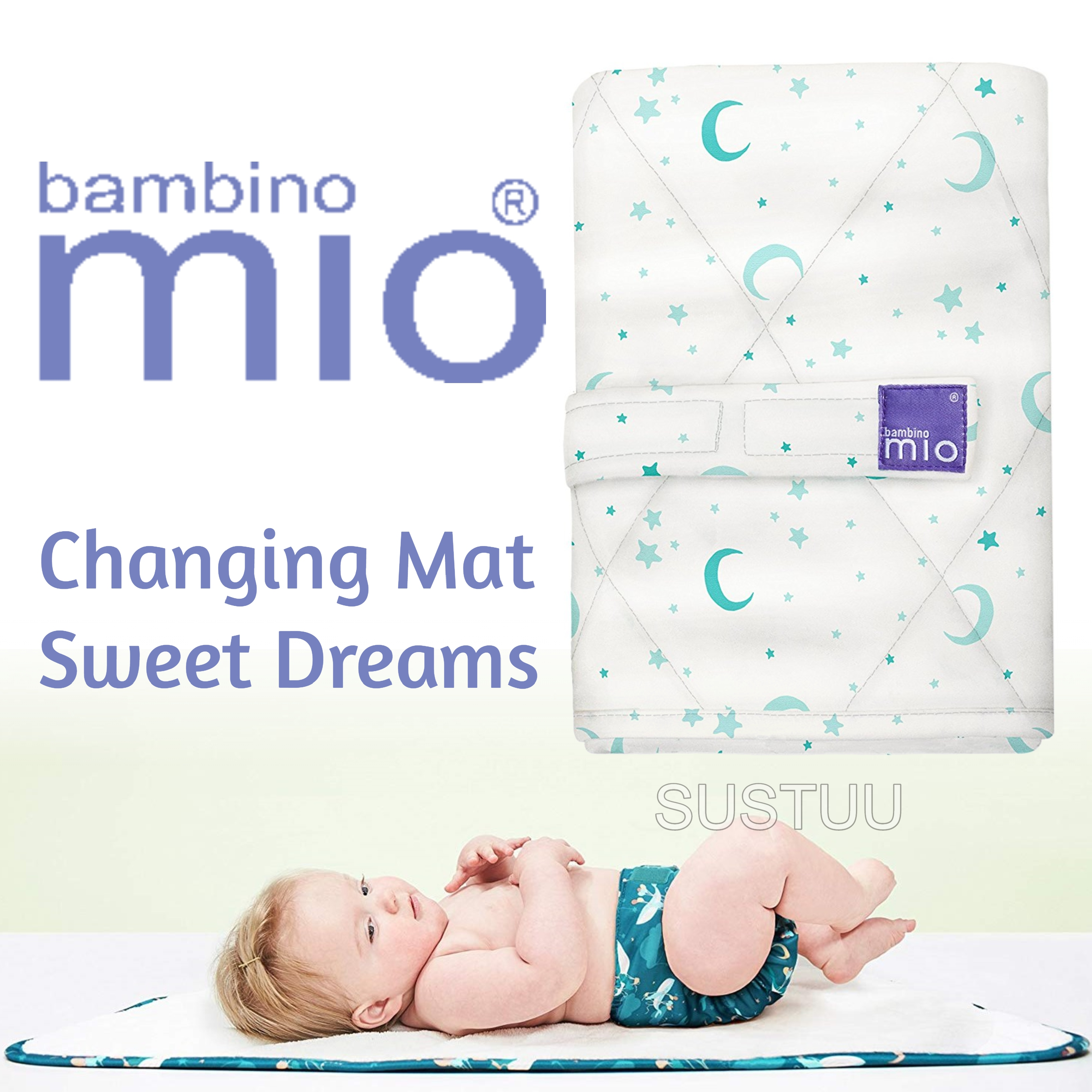 Bambino Mio Changing Mat|For Kid's Changing Nappy|Indoor/Outdoor|Sweet Dreams|