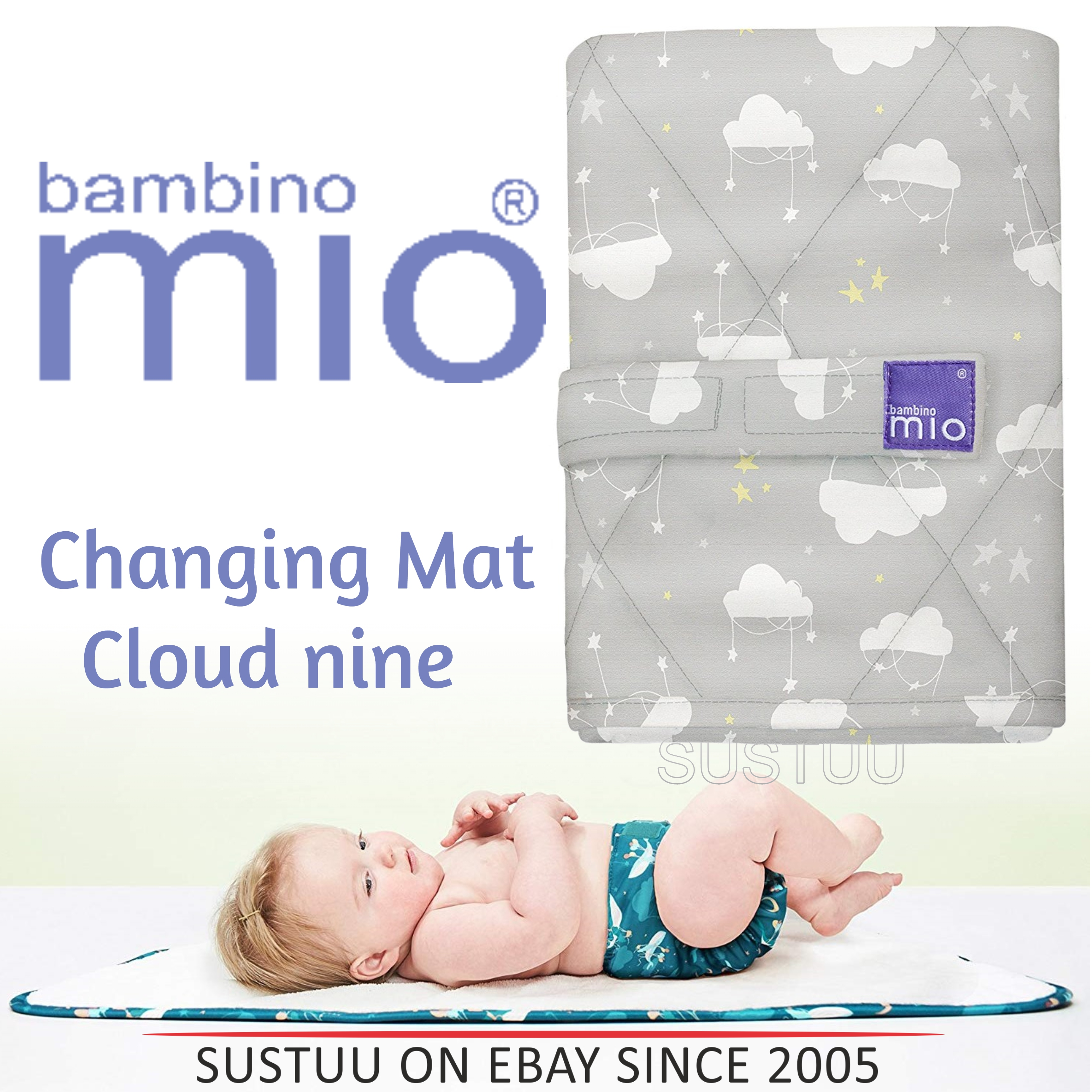 Bambino Mio Changing Mat|For Kid's Changing Nappy|Indoor/Outdoor|Cloud Nine|