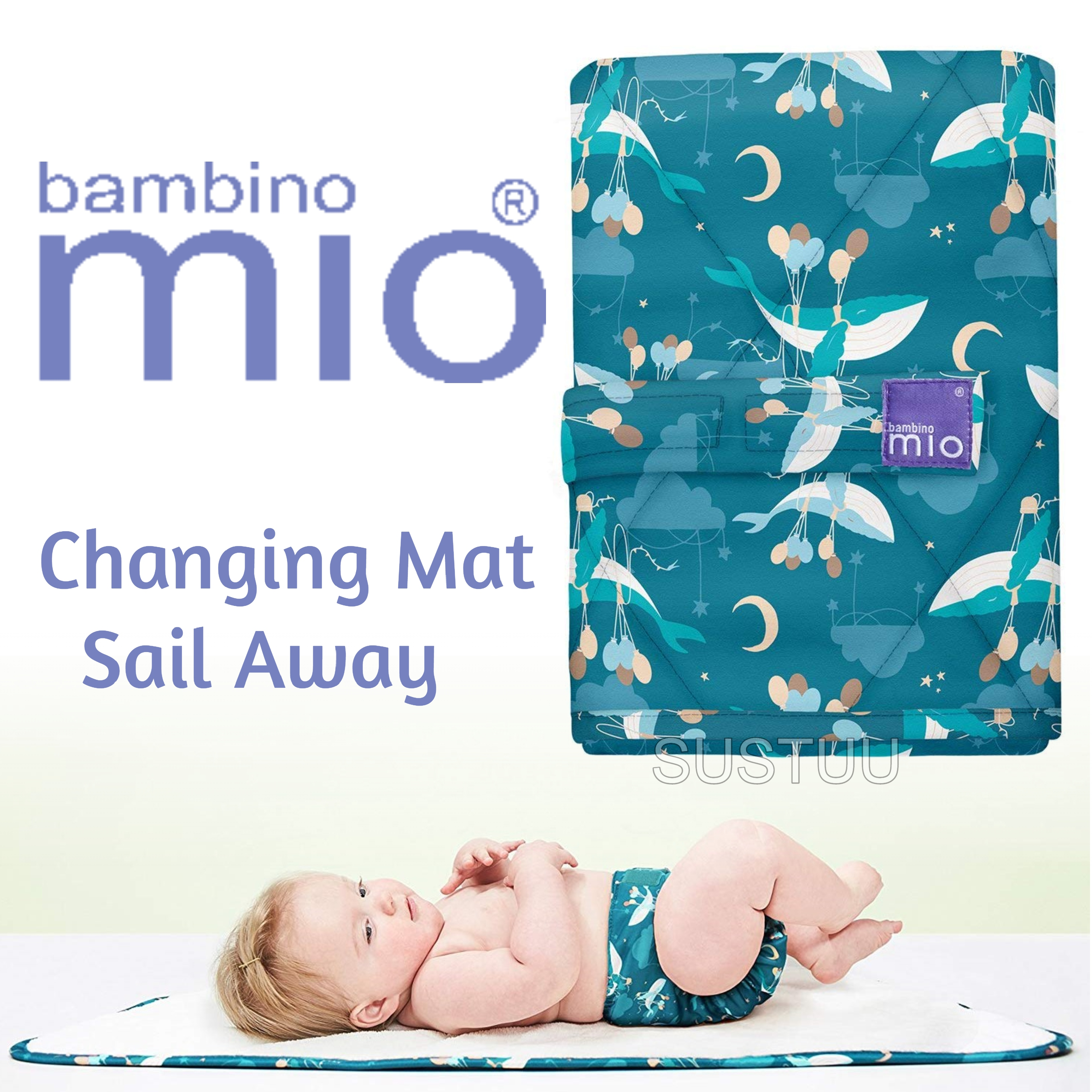 Bambino Mio Changing Mat|For Kid's Changing Nappy|Indoor/Outdoor|Sail Away|
