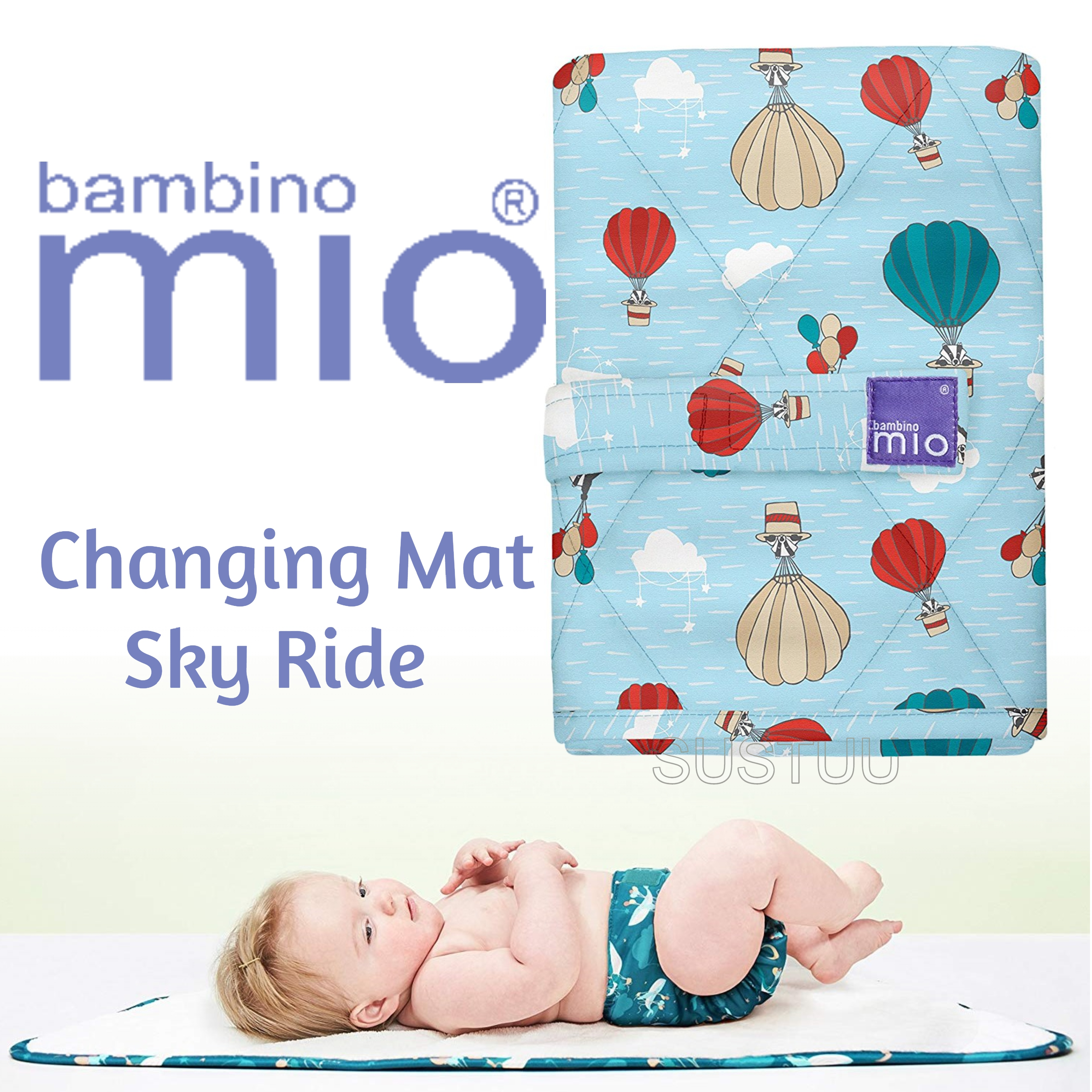 Bambino Mio Changing Mat|For Kid's Changing Nappy|Indoor/Outdoor|Sky Ride|