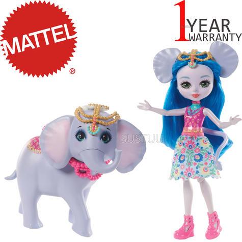 Enchantimals Large Elephant & Ekaterina Doll | Kid's Antique Storytelling Play Set | +3 years Thumbnail 1