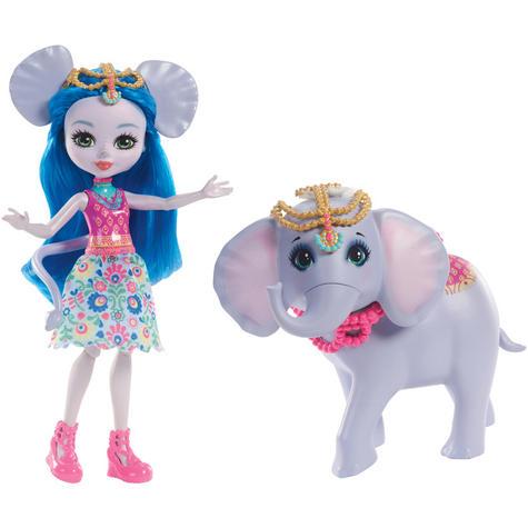 Enchantimals Large Elephant & Ekaterina Doll | Kid's Antique Storytelling Play Set | +3 years Thumbnail 2