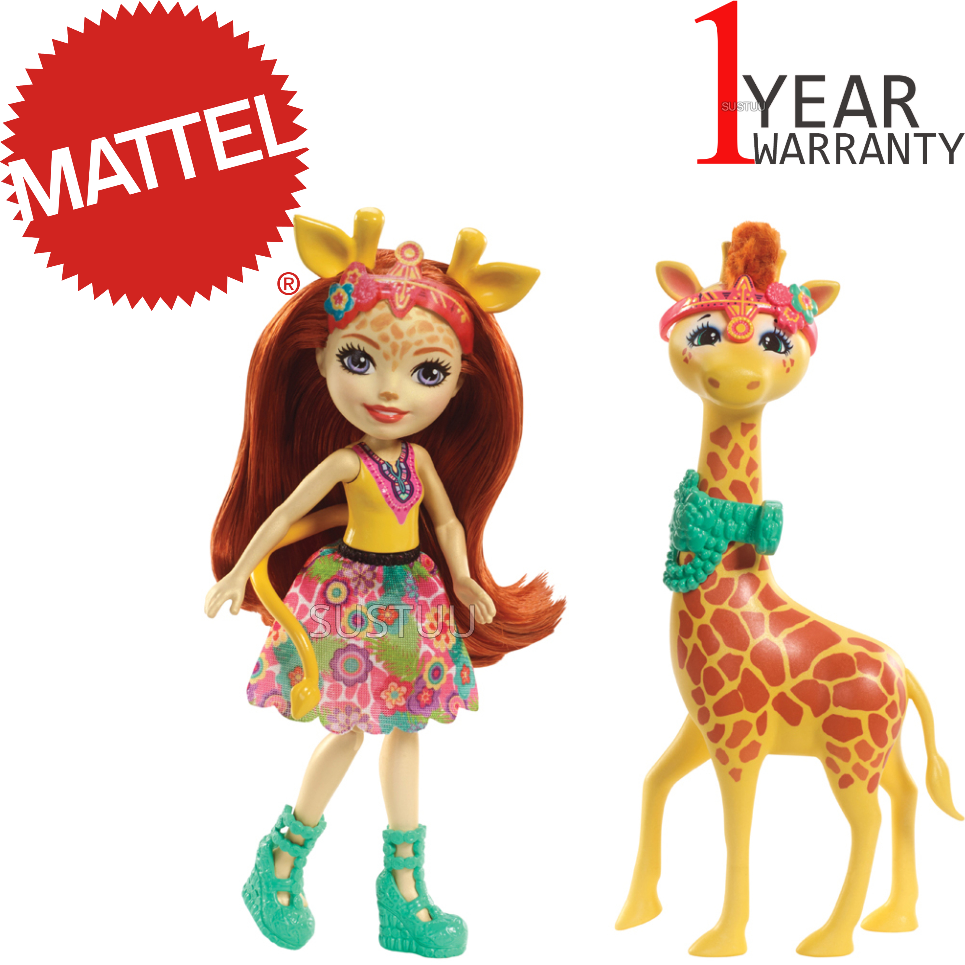 Enchantimals Large Giraffe and Gillian Doll | Kid's Antique Storytelling Play Set | +3 years