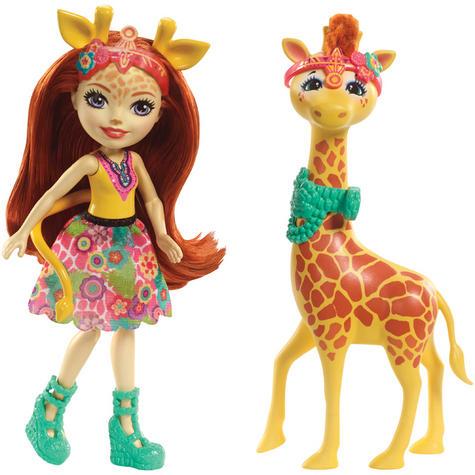 Enchantimals Large Giraffe and Gillian Doll | Kid's Antique Storytelling Play Set | +3 years Thumbnail 2