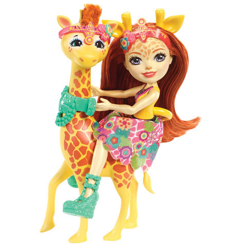Enchantimals Large Giraffe and Gillian Doll | Kid's Antique Storytelling Play Set | +3 years Thumbnail 3