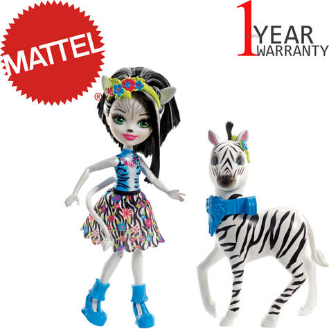 Enchantimals Large  Zebra & Zelena Doll | Kid's Antique Storytelling Play Set | +3 years Thumbnail 1
