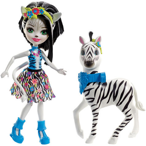 Enchantimals Large  Zebra & Zelena Doll | Kid's Antique Storytelling Play Set | +3 years Thumbnail 2