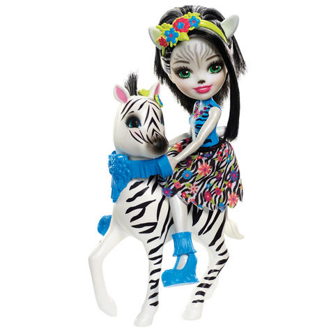 Enchantimals Large  Zebra & Zelena Doll | Kid's Antique Storytelling Play Set | +3 years Thumbnail 3