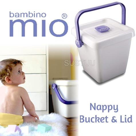 Bambino Mio Nappy Bucket & Lid|Baby/Kids/Toddler's Laundry Storage Bag|BPA Free| Thumbnail 1