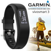 Garmin Vivosmart 3 Fitness Sports Watch|Heart Rate/Activity Tracker|Black Small