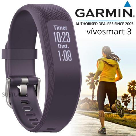 Garmin Vivosmart 3 Fitness Sports Watch|Heart Rate/Activity Tracker|Small Purple Thumbnail 1